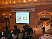 Managing Director Kyutoku Presenting the Japan's Country Report