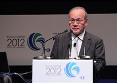 JGA Chairman Torihara presenting his keynote address